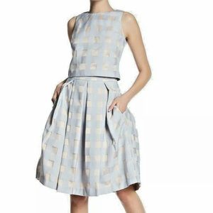 Eliza J 2 pc checkered skirt set NWT